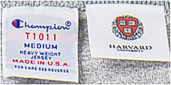 チャンピオン メイドインUSA コレクション / 米国製、Officially Licensed Product of Harvard University