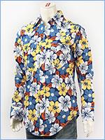 ロックマウント Rockmount フローラルハワイ プリント ウェスタンシャツ ROCKMOUNT FLORAL HAWAII PRINT WESTERN SHIRTS No.SP649 Blue/Yellow Made in USA 35985-87