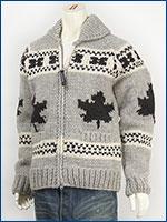 カナタ カウチンセーター ダブルジップ メイプル バージンウール Kanata Hands Knits Cowichan Sweater Hand Made in Canada 38881-16