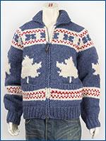 カナタ カウチンセーター ダブルジップ メイプル バージンウール Kanata Hands Knits Cowichan Sweater Hand Made in Canada 38881-84