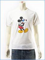 ディズニー ミッキーマウス 半袖 プリント Tシャツ サングラスデザイン Disney S/S MICKEY MOUSE PRINT T-SHIRT GU711064R-001