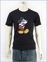 ディズニー ミッキーマウス 半袖 プリント Tシャツ サングラスデザイン Disney S/S MICKEY MOUSE PRINT T-SHIRT GU711064R-101