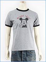 ディズニー ミッキーマウス 半袖 プリント Tシャツ リンガー Disney S/S MICKEY MOUSE PRINT T-SHIRT RINGER GU721070R-206