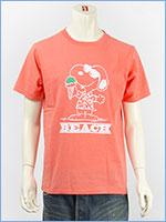 ピーナッツ スヌーピー 半袖 プリント Tシャツ ビーチデザイン PEANUTS S/S SNOOPY PRINT T-SHIRT GU821076R-305