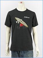 ディズニー ミッキーマウス 半袖 プリント Tシャツ サーフ Disney S/S MICKEY MOUSE PRINT T-SHIRT RINGER GU821077R-103