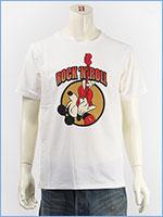 ディズニー ミッキーマウス 半袖 プリント Tシャツ ロック Disney S/S MICKEY MOUSE PRINT T-SHIRT RINGER GU821079R-001