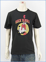 ディズニー ミッキーマウス 半袖 プリント Tシャツ ロック Disney S/S MICKEY MOUSE PRINT T-SHIRT RINGER GU821079R-103