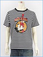 ディズニー ミッキーマウス 半袖 プリント Tシャツ ロック Disney S/S MICKEY MOUSE PRINT T-SHIRT RINGER GU821079R-911