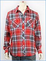 ショット 長袖 刺繍 ライトネル チェックシャツ SCHOTT LIGHT NEL SHIRT
