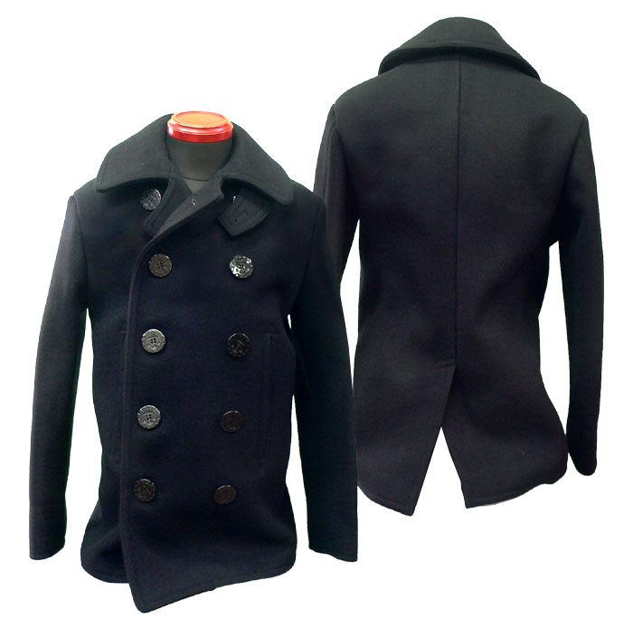VINTAGE NAVAL CLOTHING FACTORY Wool 6/8 Button Navy Pea Coat WWII 's - $ This is a s Naval Clothing Factory WWII 6/8 button Navy peacoat. It is in good condition. Good for an addition to any collectors collection.