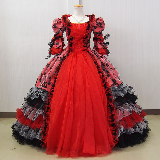 中世貴族衣装お姫様カラードレス プリンセスドレス(9号,11号/M