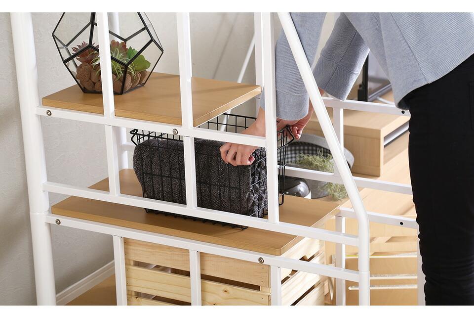 安全性にこだわり、耐久性も優れたロフトベッド。