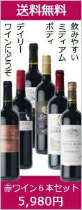 デイリー赤ワイン6本セット