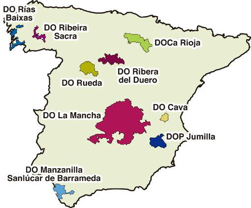 スペインのワイン産地から、5箇所を厳選!