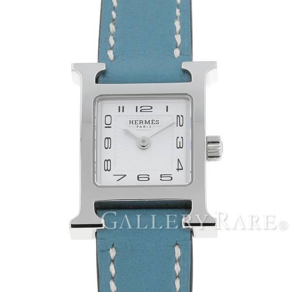 エルメス Hウォッチ ミニ ブルージーン ヴォースイフト P刻印 HH1.101 HERMES 腕時計 レディース
