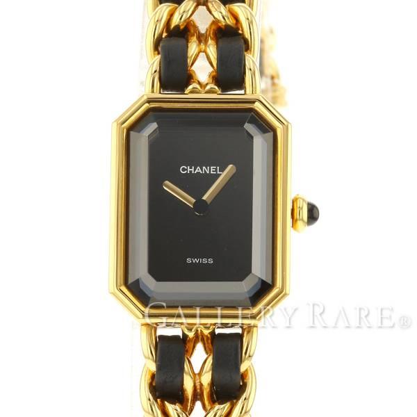 シャネル プルミエール M H0001 CHANEL 腕時計 レディース 黒文字盤【安心保証】【中古】