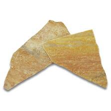 乱形石 アルビノイエロー 厚7〜12mm 1平米分