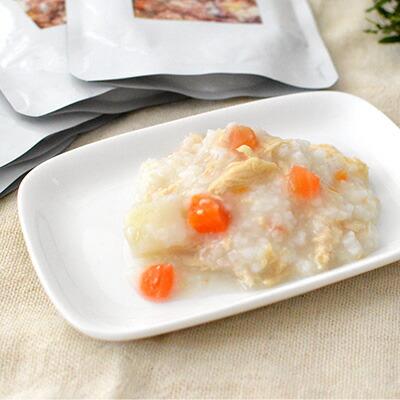 比内地鶏雑炊 ささみと野菜