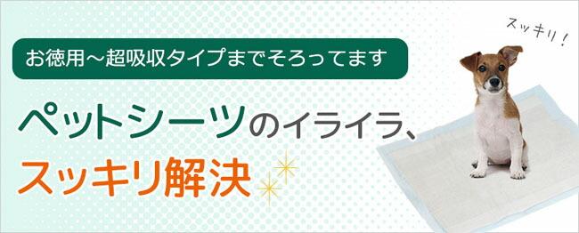 【お徳用〜超吸収タイプまで】 ペットシーツのイライラ、すっきり解決!
