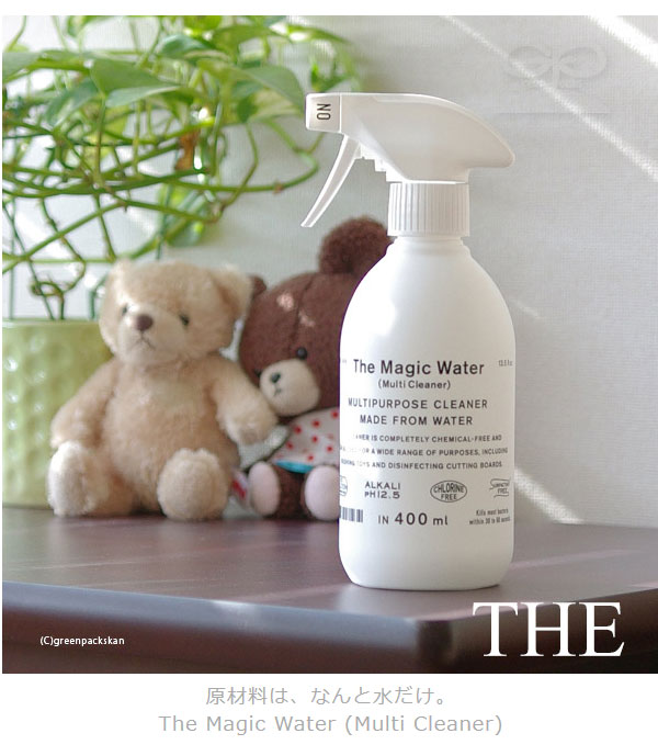 350 ml of THE magic water [multi-cleaner] refills (e3/ multi-purpose  cleaner oil dirt alkali electrolysis water almighty cleaner /4547639592149)