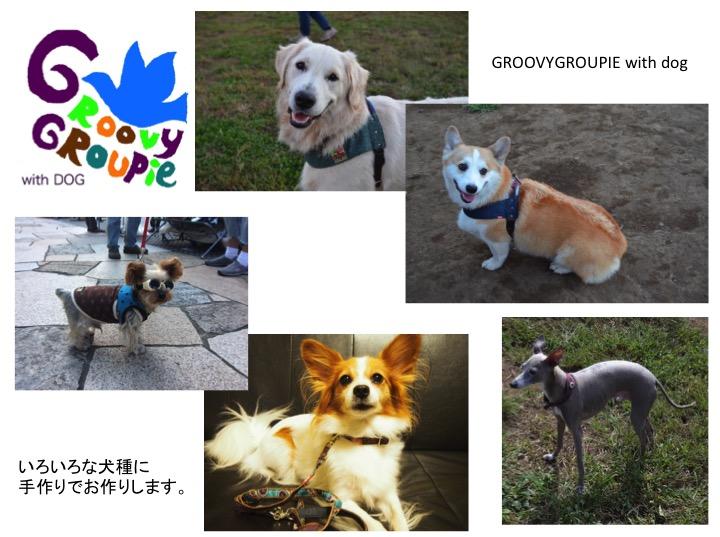 お散歩専門店。ハーネス、首輪、リードなど犬用品手作りしてます。GROOVY GROUPIE