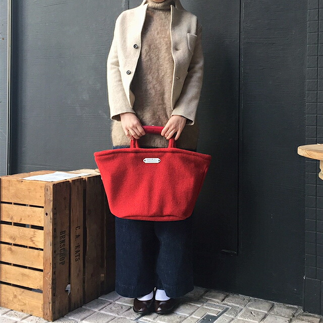 R&D.M.Co- RED TWEED MARCHE BAG SMALL (no.2796)