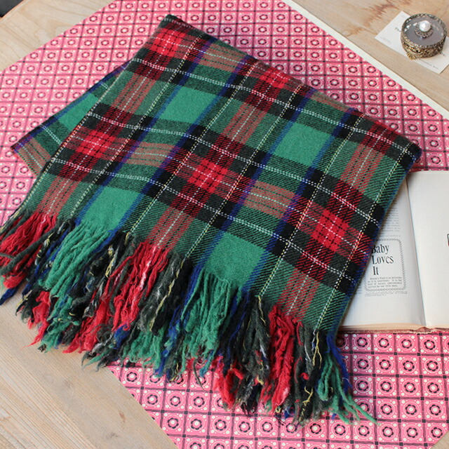 R&D.M.Co- TARTAN CHECK BLANKET (no.2864)