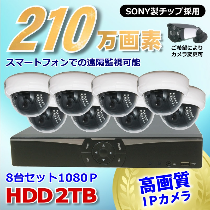 カメラ、レコーダーセット(IP)