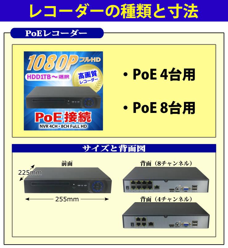 レコーダー選択1(PoE)