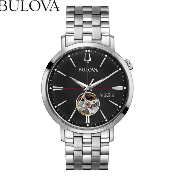 【無金利ローン可】 ブローバ [BULOVA] クラシック [CLASSIC] 96A199 エアロジェット オートマチック 自動巻 メンズ 腕時計 時計