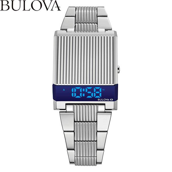 【無金利ローン可】 ブローバ [BULOVA] アーカイブシリーズ コンピュートロン メンズ 腕時計 LED デジタル 時計 デュアルタイム シルバー 96C139