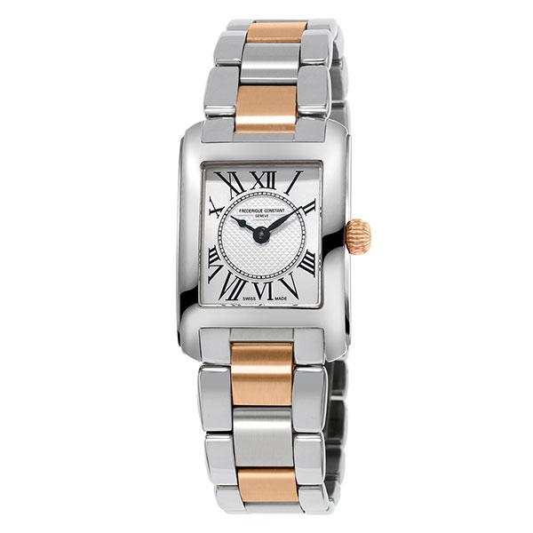 【無金利ローン可】【3年間無料点検付】 フレデリックコンスタント [FREDERIQUE CONSTANT] クラシック FC-200MC12B バイカラー シルバー シンプル 長方形 レディース 腕時計 時計