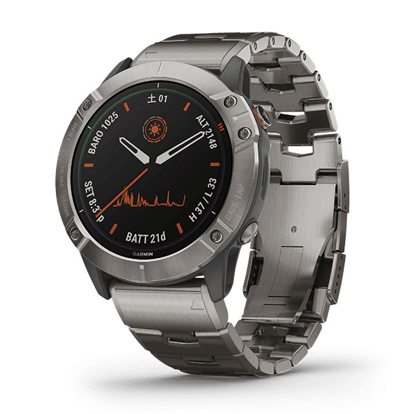 Fenix 6X Pro Dual Power Ti Gray Titanium band