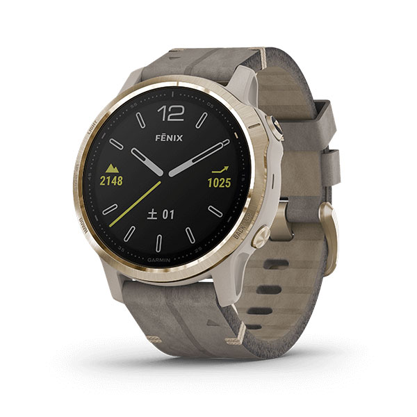Fenix 6S Tundra Light Gold Leather band