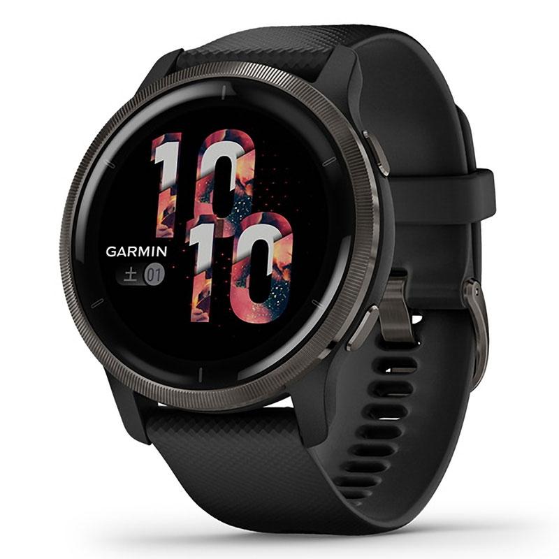 ガーミン [GARMIN] ベニュー 2 [Venu 2] Black / Slate 010-02430-61 スマートウォッチ メンズ レディース Suica 音楽保存 血中酸素 心拍計 睡眠 生理周期 妊娠 健康 通知 ラン ゴルフ タッチ GPS iphone android