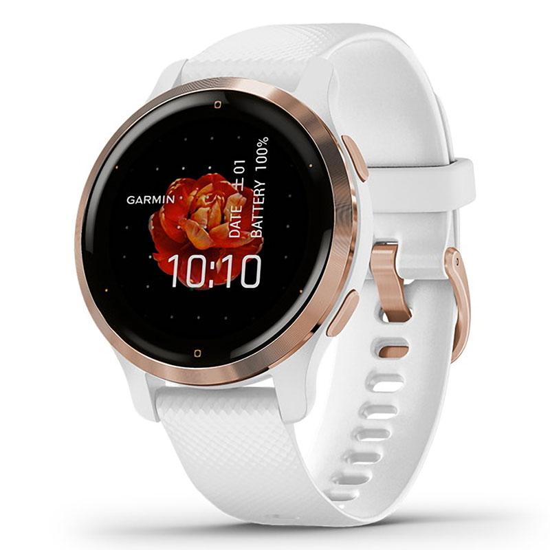 ガーミン [GARMIN] ベニュー 2S [Venu 2S] White / Rose Gold 010-02429-63 スマートウォッチ メンズ レディース Suica 音楽保存 血中酸素 心拍計 睡眠 生理周期 妊娠 健康 通知 ラン ゴルフ タッチ GPS iphone android