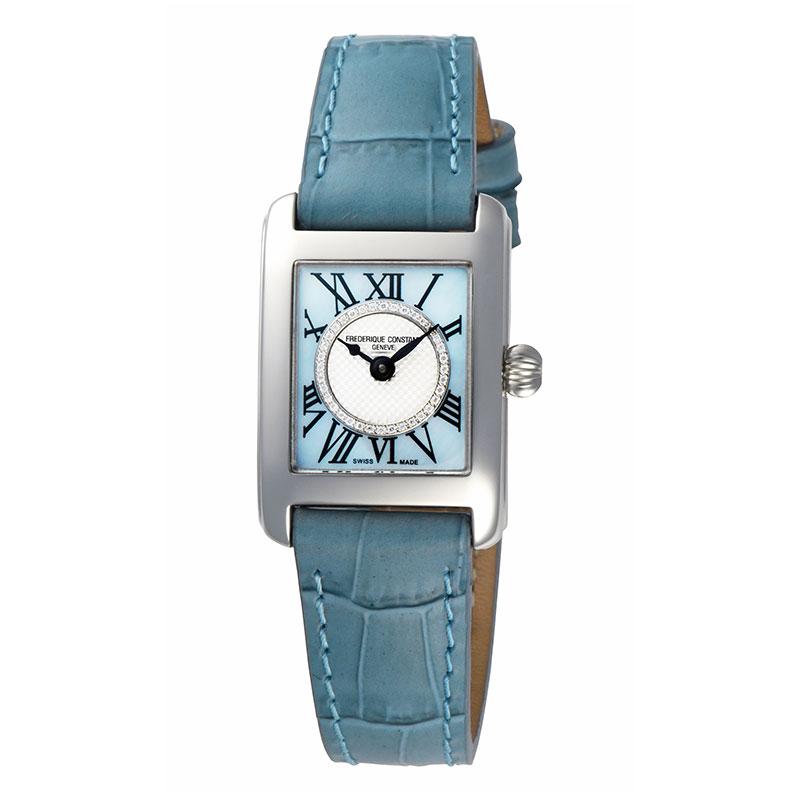 【無金利ローン可】【3年間無料点検付】 フレデリック コンスタント [FREDERIQUE CONSTANT] クラシック カレ レディース 日本限定モデル 腕時計 スイス製 クオーツ 革ベルト おしゃれ ダイヤ ブルー FC-200MPNDC16