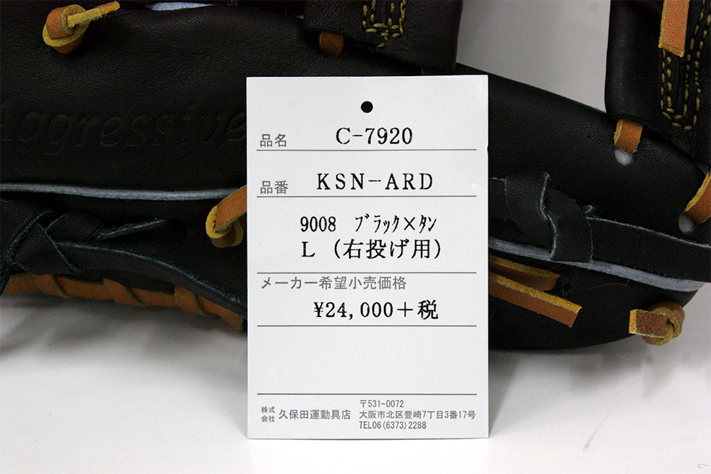 久保田スラッガーの軟式用グラブ KSN-ARC エビデンス