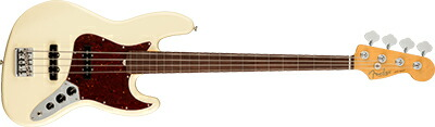 Fender USA American Professional II Jazz Bass Fretless -Olympic White / Rosewood-