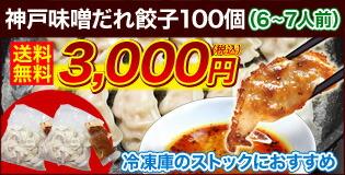 神戸味噌だれ餃子100個