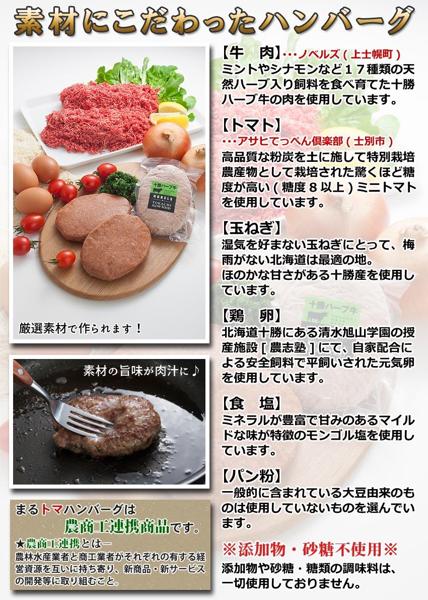 まるトマハンバーグは農商工連携商品です