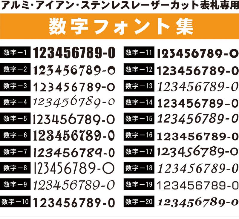数字フォント集