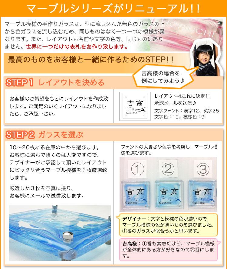マーブルガラスがリニューアル!!