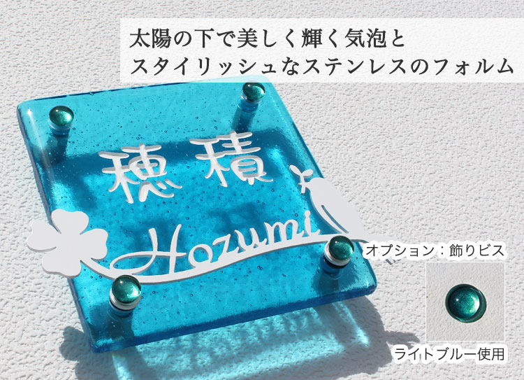 LS(Luxury glass with Stainless)表札II