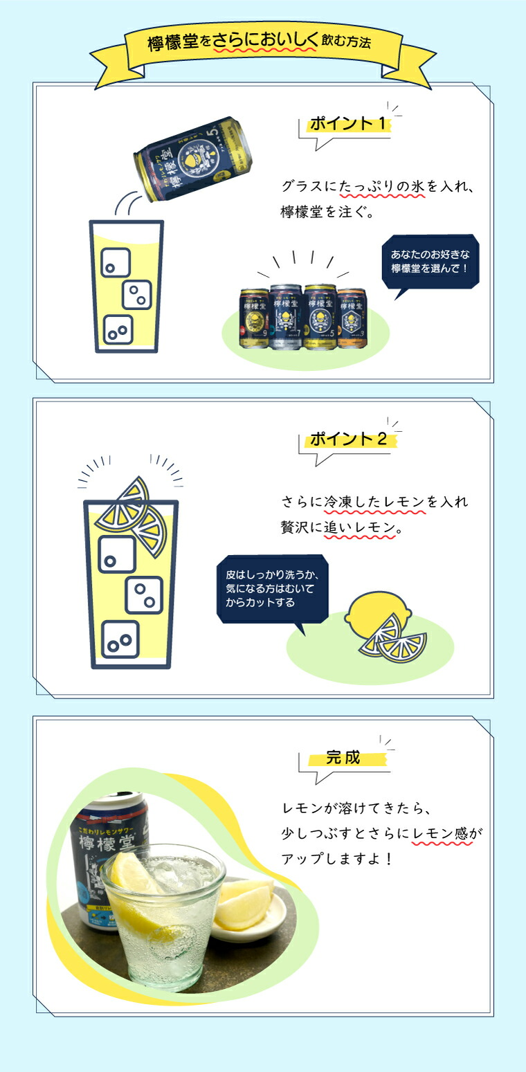 檸檬堂飲み方提案