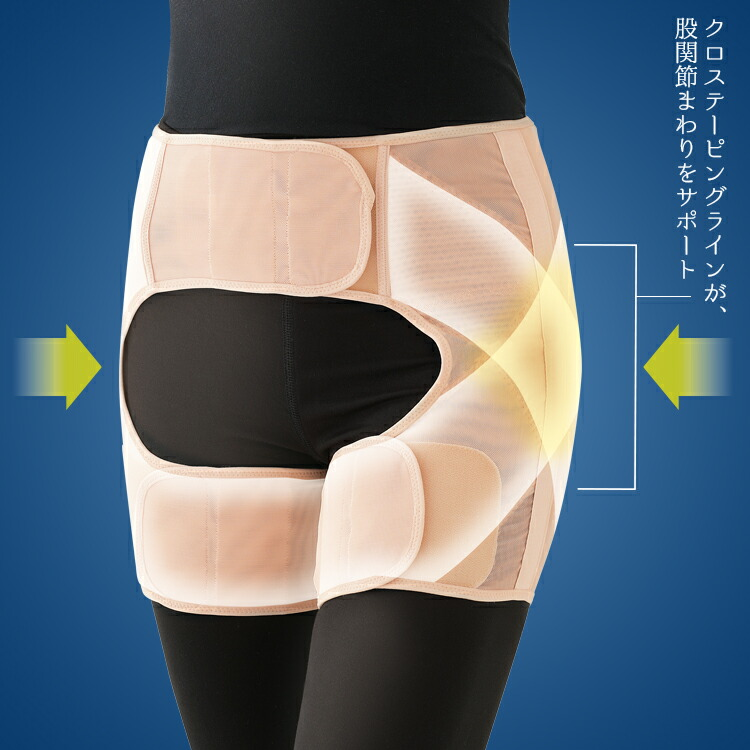 【骨盤サポーター】[勝野式 楽歩人🄬バランスサポーター] 骨盤を補正することで正しい姿勢や動きをサポート! 股関節は、大腿骨の上にある骨頭という丸い部分が骨盤のくぼみに入り込むような形になっており、この構造から足を様々な方向へ動かすことができます。関節は弾力のある軟骨でおおわれており、関節を動かしたり、荷重がかかった時の衝撃を和らげるクッションの役割をしています。