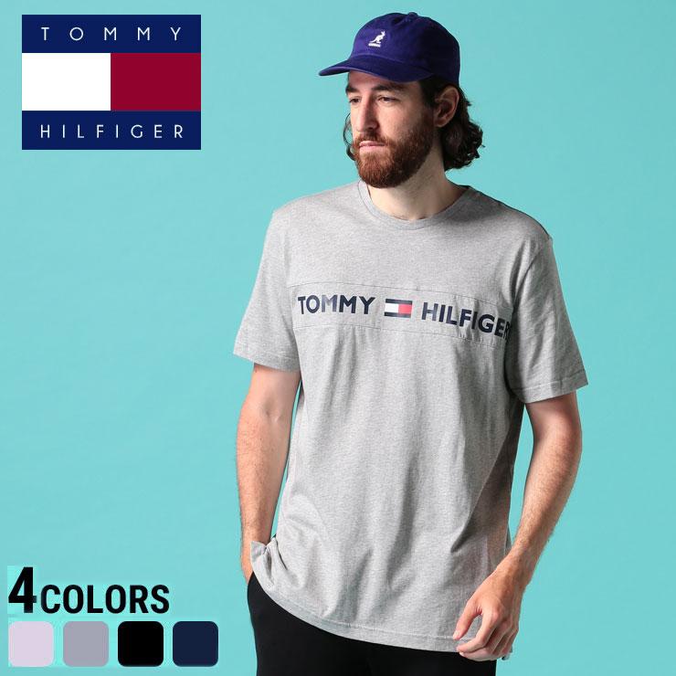 トミーヒルフィガー Tシャツ TOMMY HILFIGER トミー 綿100% ロゴプリント クルーネック 半袖 Tシャツ