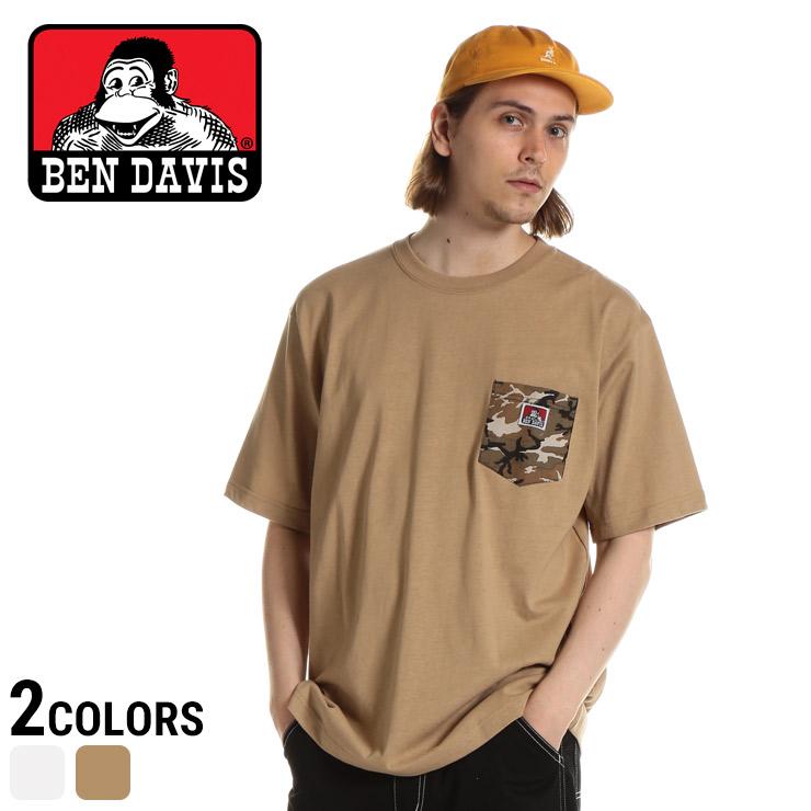 ベンデイビス Tシャツ BEN DAVIS 綿100% 迷彩ポケット クルーネック 半袖 Tシャツ CAMO POCKET TEE