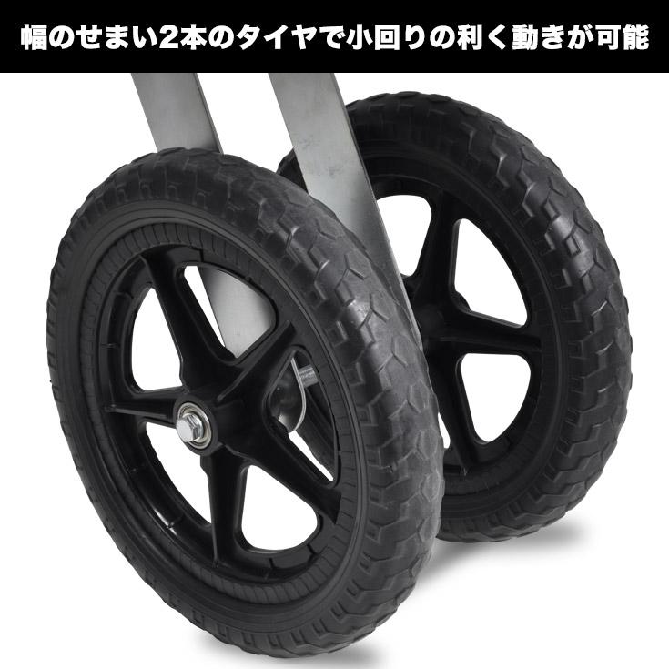 2本のタイヤで小回りの利く動きが可能
