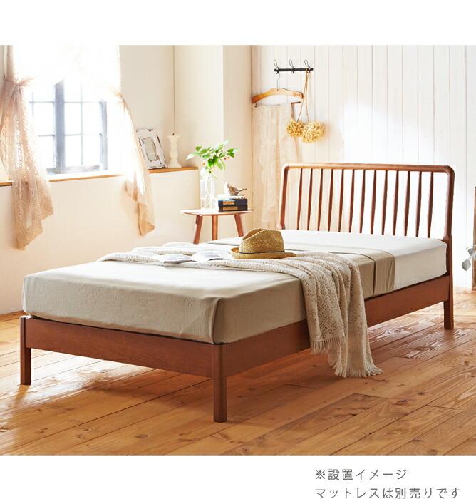 ベッド ウッドスプリングベッド ベッドフレーム 木製(オーク)北欧・ドイツのセンベラ(Sembella)/シングル・セミダブル・ダブル/ウッドスプリング/宮無し/センベラ「ファシル」[送料無料]